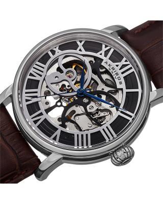 Akribos XXIV 阿克波斯黑色表盘机械机芯男士腕表