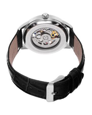Akribos XXIV 阿克波斯黑色真皮表带自动机芯男士腕表