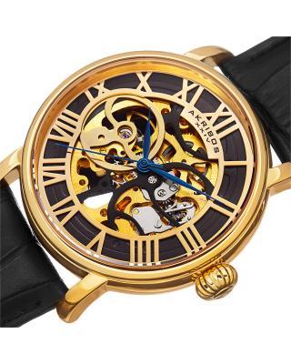 Akribos XXIV 阿克波斯金色表盘机械机芯男士腕表