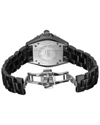 Burgi 伯基黑色陶瓷石英机芯女士腕表 BUR057BK