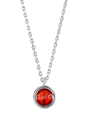 【独家定制】Yanna Jewellery 幸运四叶草红色奥地利水晶简约时尚女士项链6.5mm