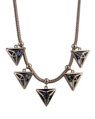 独家定制 Yanna Jewellery 朋克个性三角形奥地利水晶项链
