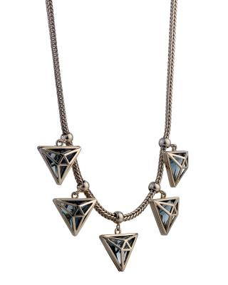 Yanna Jewellery 朋克个性三角形奥地利水晶项链