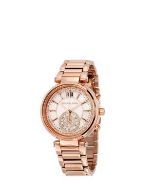 Michael Kors 迈克高仕时尚玫瑰金表带女士手表 MK6282
