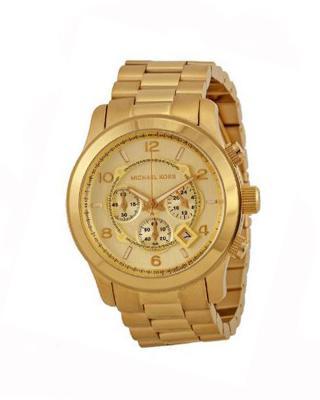 Michael Kors 迈克高仕圆形表盘三眼石英中性手表 MK8077