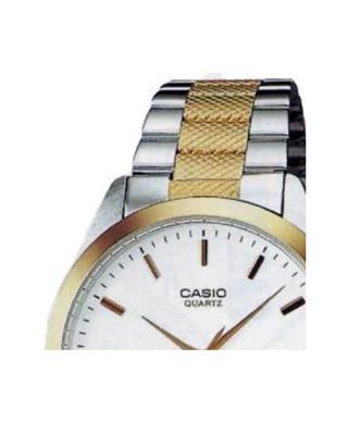Casio 卡西欧双色钢带银表盘石英防水男士手表 MTP-1274SG-7ADF