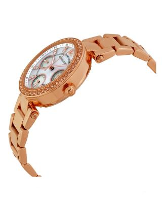 Michael Kors 迈克高仕时尚防水镶钻玫瑰金贝母表盘女士手表 MK5616