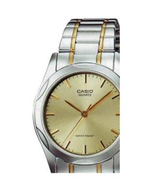 Casio 卡西欧指针系列不锈钢镀金石英男士手表 MTP-1275SG-9ADF