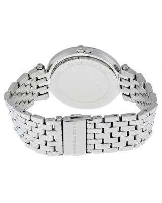 Michael Kors 迈克高仕时尚镶钻蓝色表盘银色表带石英女士手表 MK3515