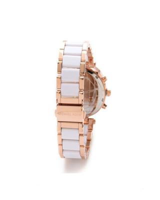 Michael Kors 迈克高仕镶钻白色表盘三眼石英女士手表 MK5774