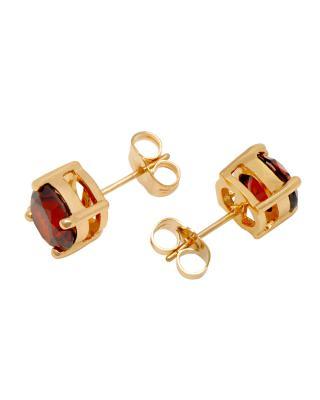 Yanna Jewellery 欧美款女神必备红色施华洛世奇水晶耳钉8mm