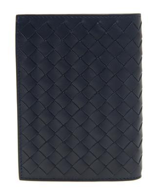 意大利 BOTTEGA VENETA 宝缇嘉 蓝色羊皮短款啪钮女士钱包 113113 V4651 4013