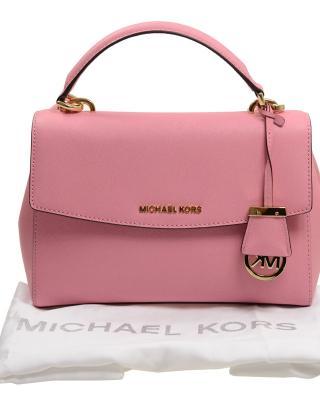 全新 MICHAEL KORS 手袋 30T5GAVS2L 623 时尚OL甜美风皮革斜跨包 粉红色