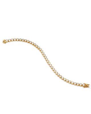 Buckley London 白色水钻金色手链