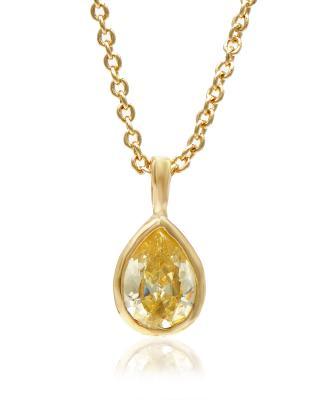 Buckley London 黄色水滴水晶镶金项链套装