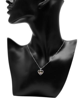 Celine Fang 赛琳·方 星座系列 925银水瓶座心形项链 黑+粉