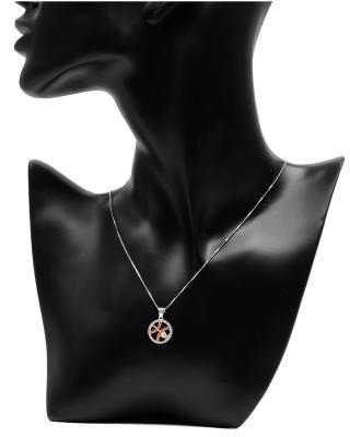 Celine Fang 赛琳·方 星座系列 925银双鱼座圆形项链 橙+粉