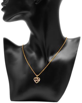 Celine Fang 赛琳·方 星座系列 925银镀金双鱼座心形项链 紫+粉