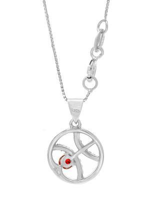Celine Fang 赛琳·方 星座系列 925银双鱼座圆形项链 粉+红