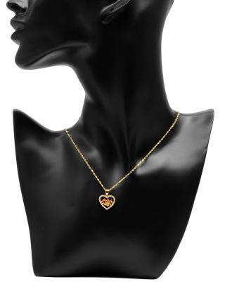 Celine Fang 赛琳·方 星座系列 925银镀金水瓶座心形项链 橙+黄