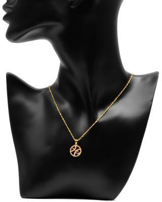Celine Fang 赛琳·方 星座系列 925银镀金双鱼座圆形项链 橙+紫