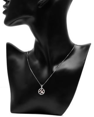 Celine Fang 赛琳·方 星座系列 925银双鱼座圆形项链 粉色