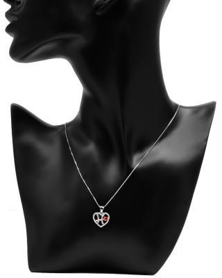 Celine Fang 赛琳·方 星座系列 925银双鱼座心形项链 粉+红