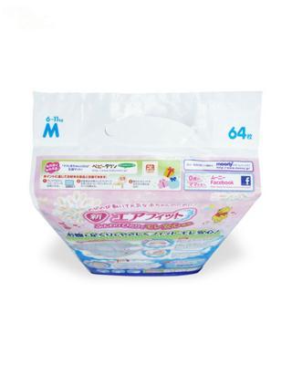日本 Moony 尤妮佳腰贴型纸尿裤 M64  适用于6-11kg宝宝 两包装