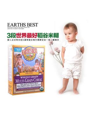 美国 Earth's Best 地球最好混合谷物米粉糊3段 227g