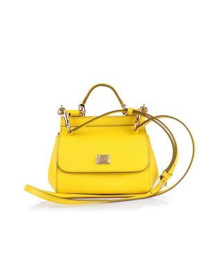 意大利 Dolce&Gabbana 杜嘉班纳D&G 黄色真皮迷你提挎两用包 BB6002 A1001 80205