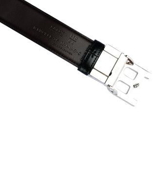 瑞士 Bally 巴利 Logo黑色牛皮皮带 B BUCKLE 35 M/290