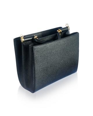 意大利 Dolce & Gabbana 杜嘉班纳 时尚黑商务休闲款牛皮女士提挎多用包 BB6012