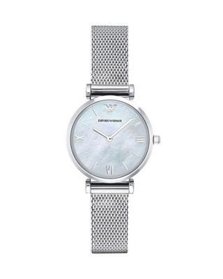 意大利 ARMANI 阿玛尼 经典时尚不锈钢银色石英女士手表 AR1955