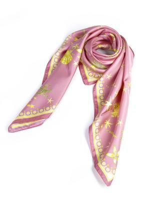 意大利 Versace 范思哲 浪漫花色名伶必备多用女士真丝丝巾