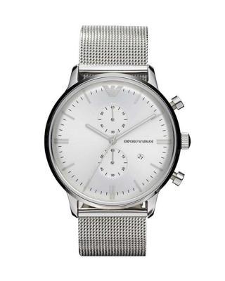 Armani 阿玛尼简约时尚个性皮带多功能商务休闲款圆形石英男士手表 AR0390