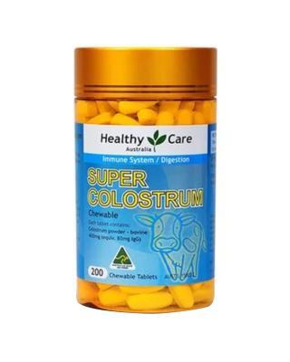 澳大利亚 Healthy Care 超级牛初乳咀嚼片 200片