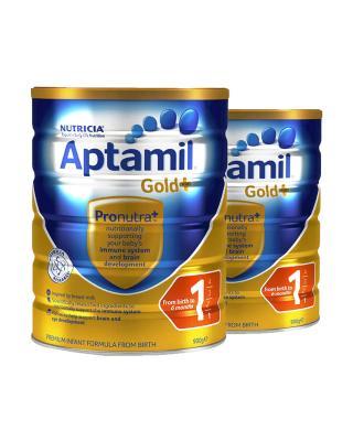 Aptamil 爱他美婴幼儿奶粉 澳洲版1段金装0-6个月900g 2罐装