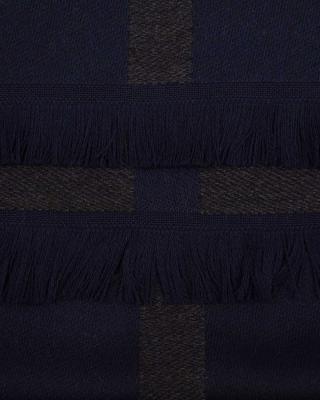 意大利Emporio Armani安普里奥·阿玛尼 深灰色羊毛男士秋冬围巾625082 6A316 00035