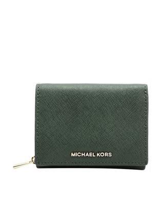 美国 Michael Kors迈克高仕 苔藓绿真皮女士折叠钱包 32F6GTV-F2L-MOSS