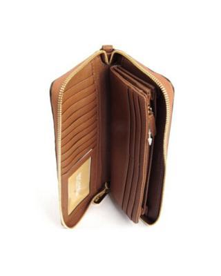 美国 Michael Kors迈克高仕 驼色真皮女士长款钱包手拿包 32S5GTV-E9L-Luggage