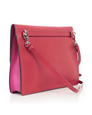 意大利MOSCHINO莫斯奇诺 粉红色真皮Moschino Logo女士手拿包 A7444-8001-1115