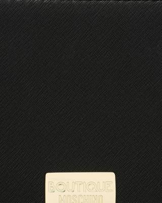 意大利MOSCHINO莫斯奇诺 黑色真皮铆钉蝴蝶结单手柄女士肩背手提包 A7509-8210-0555