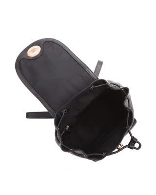 美国Coach蔻驰 黑色牛皮女士双肩包  小号37581-LIBLK