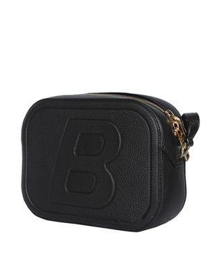 瑞士Bally巴利  黑色女士字母斜挎包6213822-B20 21x15.5x6cm
