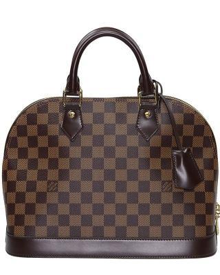 法国 LOUIS VUITTON 路易威登 啡色皮革女士手提包 N53151