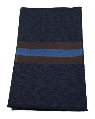 意大利 GUCCI 古驰 蓝色羊毛围巾 1473514G7044164