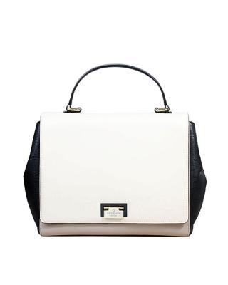 美式潮牌 Kate Spade 凯特丝蓓 摩登女郎黑白拼接时尚女士提挎两用包
