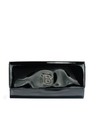 瑞士 Bally 巴利 女士黑色小牛皮时尚休闲钱包 BINNEY ICONIC/40