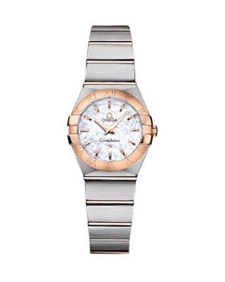 瑞士 Omega 欧米茄 星座系列磨砂镶嵌顶级钻石石英女表 123.20.24.60.05.001