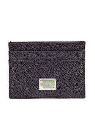 意大利 Dolce & Gabbana 杜嘉班纳女士黑色真皮卡包 BI0330 A1001 80999